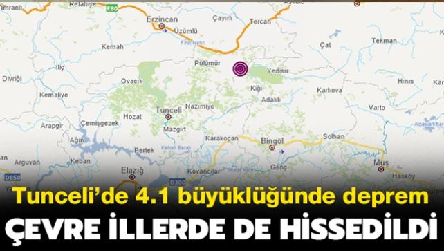 Son dakika deprem haberi: Tunceli Pülümür'de korkutan deprem! Bingöl ve Erzincan'da da hissedildi!