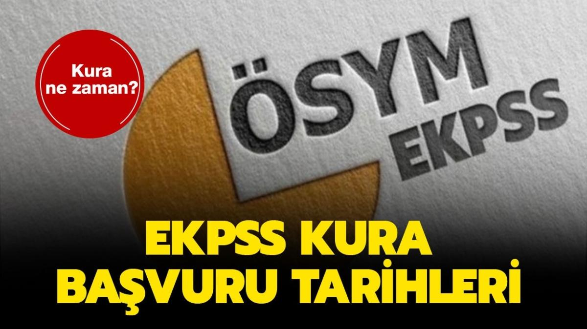 EKPSS kura çekilişi başvuruları başladı! EKPSS kura başvuru kılavuzu yayınlandı!