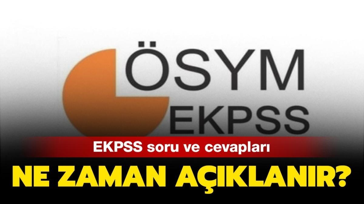 """EKPSS soru ve cevapları yayınlandı! 2020 EKPSS sonuçları ne zaman açıklanacak"""""""