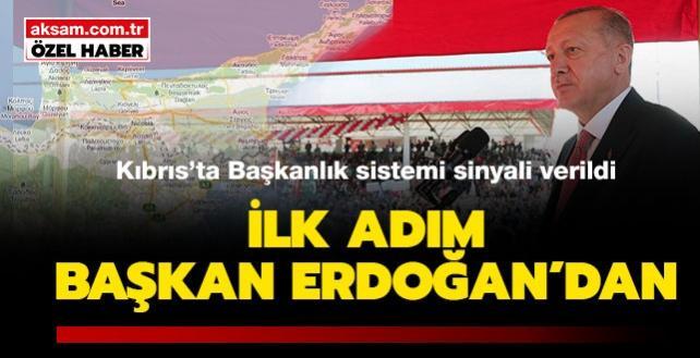 İlk adım Başkan Erdoğan'dan: Kuzey Kıbrıs'ta başkanlık sistemi sinyali verildi