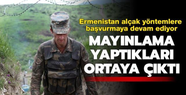İşgalci Ermenistan ordusunun, geri çekilirken mayınlama yaptığı ortaya çıktı