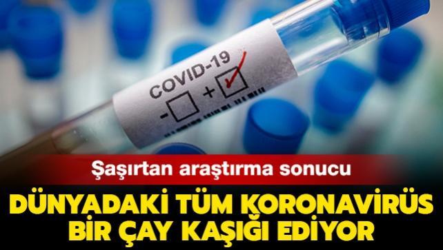 Dünyadaki tüm koronavirüs bir shot bardağına sığabiliyor