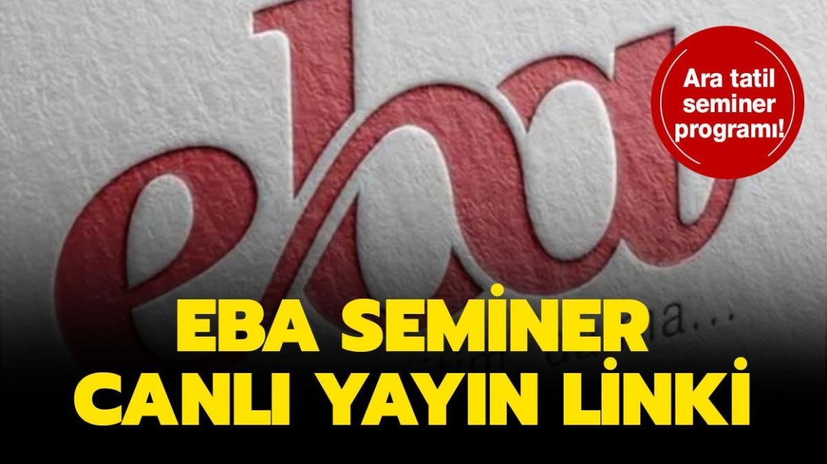 Ara tatil seminer programı 2020! EBA öğretmen seminer canlı yayın izleme linki