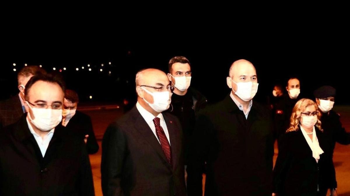 Depremin ardından Bakan Soylu İzmir'e geldi