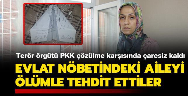 Terör örgütü PKK çözülme karşısında çaresiz kaldı: Evlat nöbetindeki aileyi ölümle tehdit ettiler