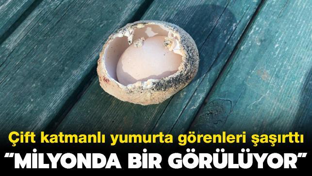 Adana'da çift katmanlı yumurta görenleri şaşkına çevirdi: Milyonda bir görülüyor