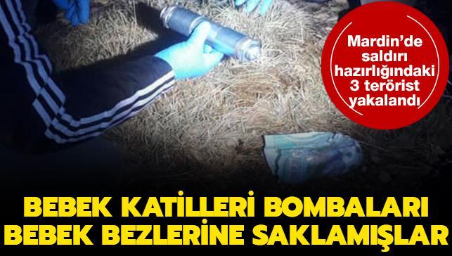 PKK'lı teröristler bombaları bebek bezine saklamışlar