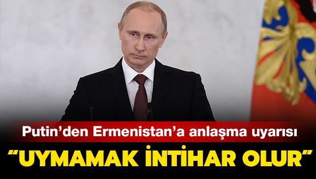 Putin'den Dağlık Karabağ açıklaması: Ermenistan'ın anlaşmayı reddetmesi 'intihar' olur
