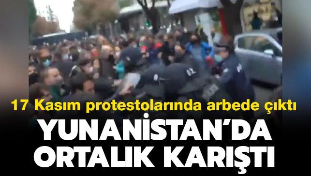 Yunanistan'da polis ile halk karşı karşıya geldi: 17 Kasım protestolarında arbede