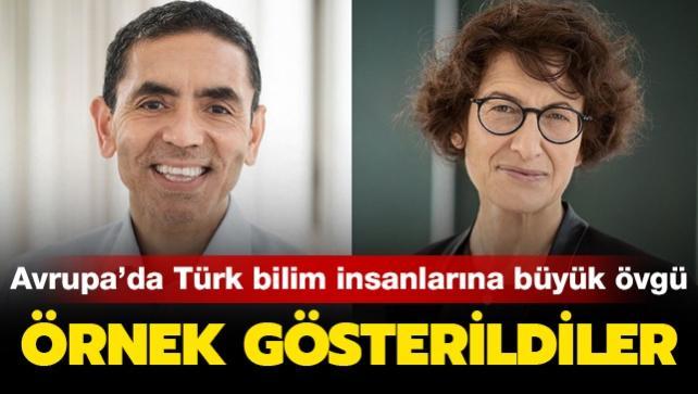 Avrupa'dan Türk bilim insanları Uğur Şahin ve Özlem Türeci'ye büyük övgü