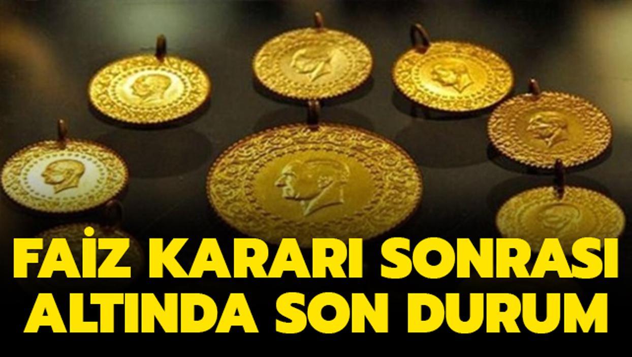 """Merkez Bankası faiz kararı sonrası altın fiyatı ne oldu"""""""