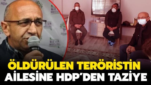 Kırmızı kategorideki öldürülen teröristin ailesine HDP'den taziye ziyareti