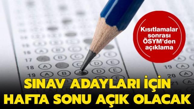 ÖSYM'den son dakika açıklaması: Sınav adayları için hafta sonu nüfus müdürlükleri açık olacak