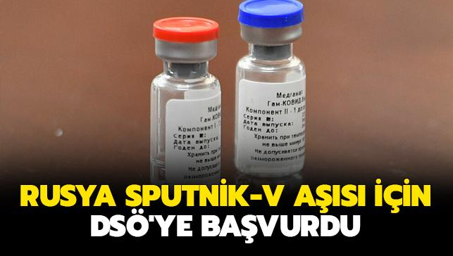 Rusya Kovid-19 aşısında yeni gelişme... Sputnik-V aşısı için DSÖ'ye başvurdu