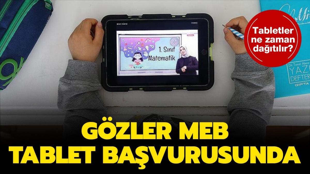 """MEB tablet başvurusu sayfası 2020! MEB 30 bin tablet başvurusu ne zaman, nasıl yapılır"""""""