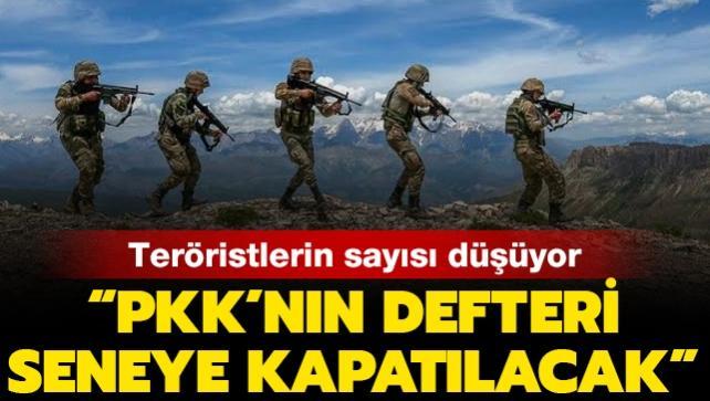 Yurt içindeki terörist sayısı 340'ın altına düştü: PKK'nın defteri önümüzdeki yıl kapatılacak