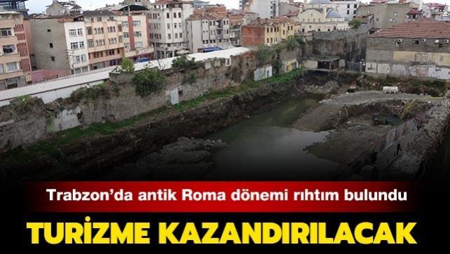 Trabzon'da kentsel dönüşüm proje alanında antik Roma dönemi rıhtım ortaya çıktı: Turizme kazandırılacak