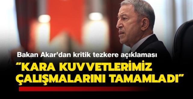 """Bakan Akar: """"En kısa sürede Mehmetçik, Azerbaycan'daki görevlerinin başına gidecek"""""""