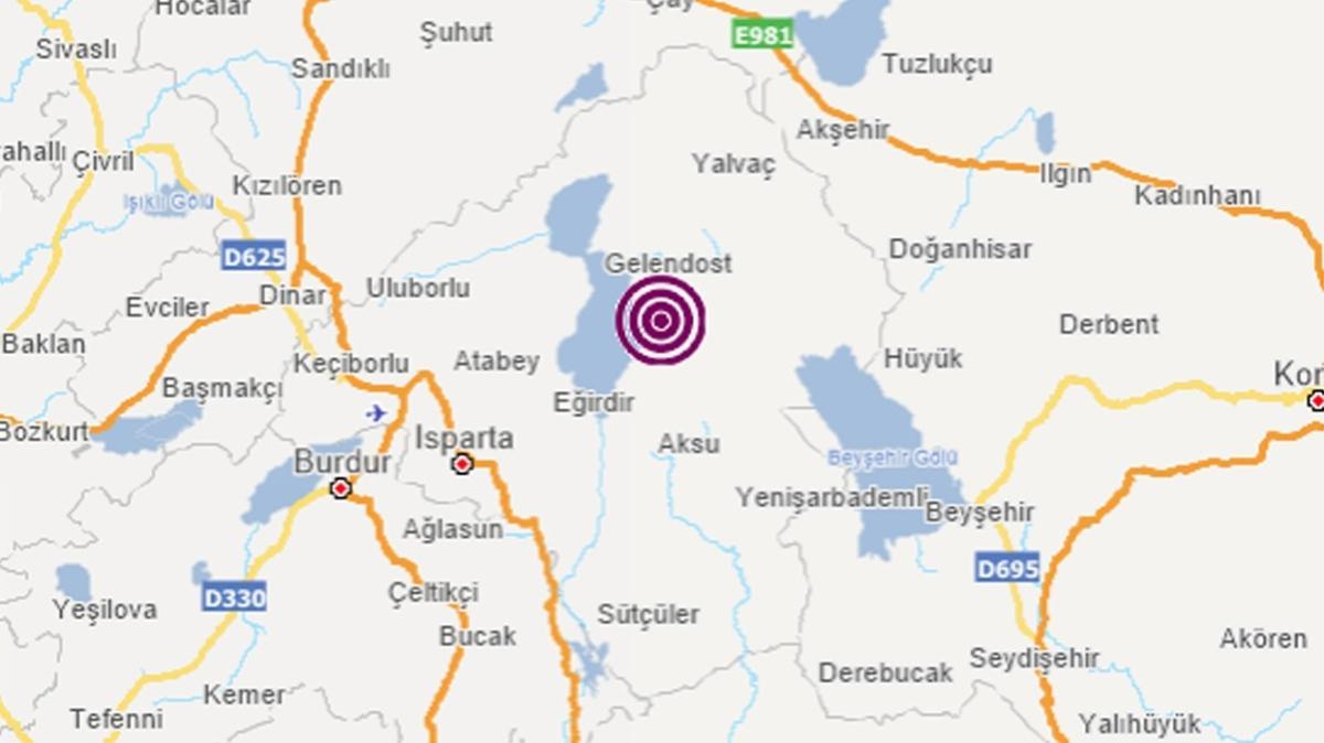 Isparta'da 3.6 büyüklüğünde deprem