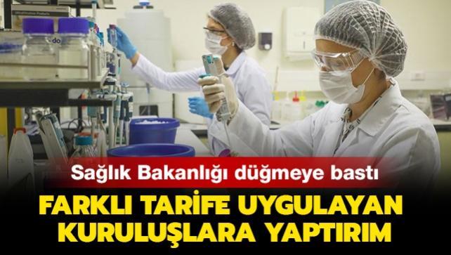 Sağlık Bakanlığı düğmeye bastı: Koronavirüs testi için fazladan alınan ücretin iadesi sağlanacak