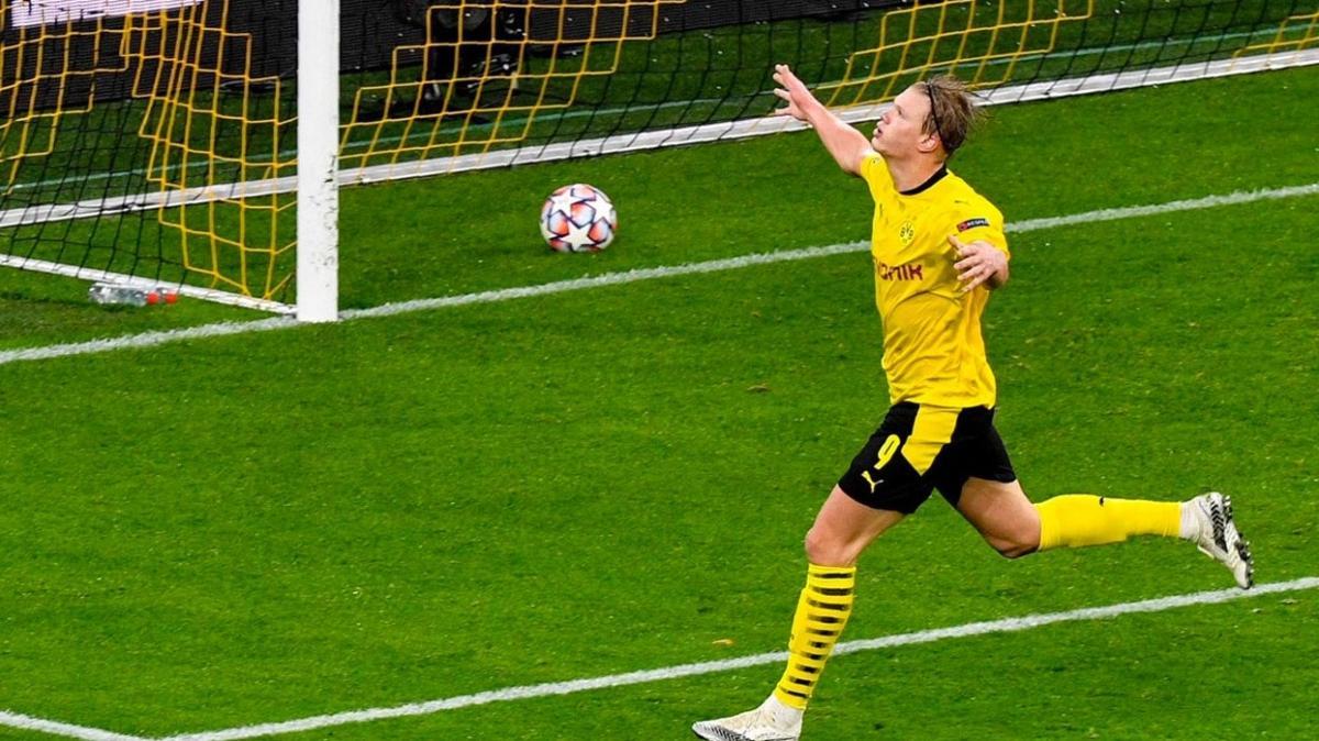 Dortmund'da Erling Haaland coştu, galibiyet geldi