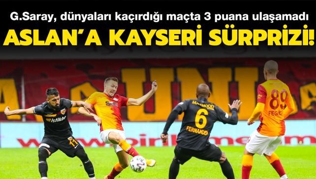 Aslan'a Kayseri sürprizi