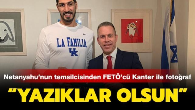 İsrail'in BM temsilcisinin FETÖ'cü Enes Kanter ile fotoğrafına tepki yağdı