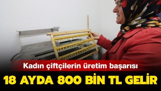 Kadın çiftçiler 18 ayda 800 bin lira gelir elde etti