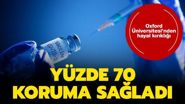 Oxford Üniversitesi'nin koronavirüs aşısı hayal kırıklığı yarattı: Yüzde 70 koruma