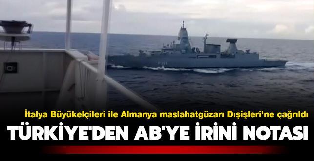 Türkiye'den AB'ye İrini notası