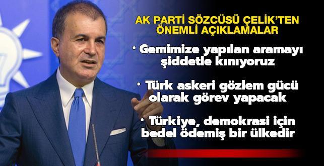 AK Parti Sözcüsü Ömer Çelik'ten Karabağ açıklaması: Türk askeri gözlem gücü olarak görev yapacak