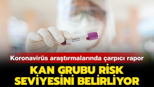 Koronavirüste en fazla risk taşıyan kan grubu belli oldu
