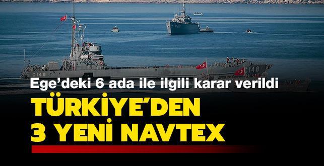 Türkiye'den 3 yeni NAVTEX kararı