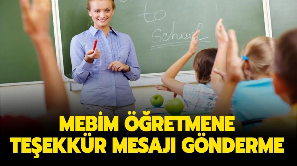 """Mebim Öğretmenler Günü mesajı numarası nedir"""" Mebim öğretmene teşekkür mesajı nasıl gönderilir"""""""