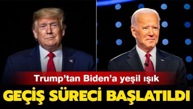 Trump'tan Biden'a yeşil ışık: Geçiş süreci başlatıldı