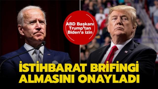 ABD Başkanı Trump'tan Biden'a izin: İstihbarat brifingi almasını onayladı