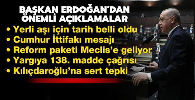 """Başkan Erdoğan'dan yargıya 138. madde çağrısı: """"Gereğini neden yapmıyorsunuz"""""""