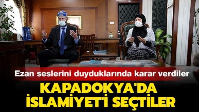 Ezan seslerini duyduklarında karar verdiler: ABD'li anne ve oğlu Kapadokya'da İslamiyet'i seçti