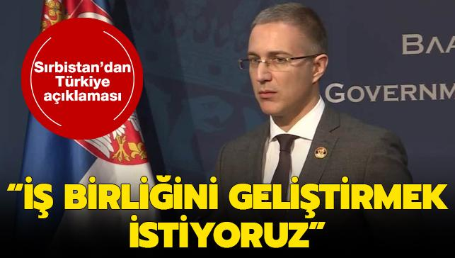 Sırbistan'dan Türkiye açıklaması: İş birliğini geliştirmek istiyoruz