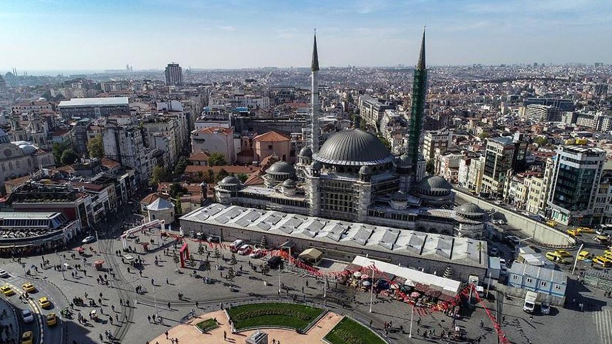 Taksim, Ramazan ayında camisine kavuşuyor