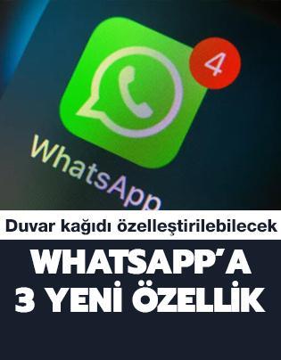 WhatsApp'a 3 yeni özellik geliyor: Duvar kağıdı özelleştirilebilecek