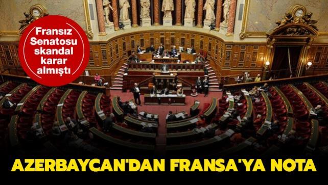 Azerbaycan'dan Fransa'ya nota... Fransız Senatosu skandal karar almıştı