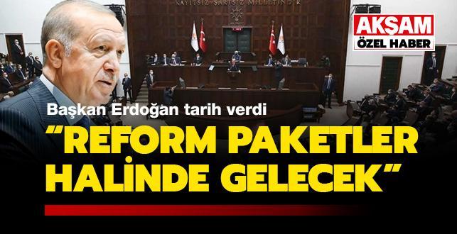 'Reform paketler halinde gelecek'