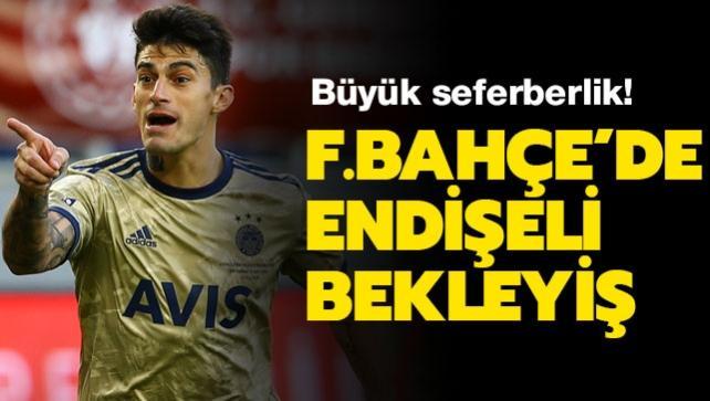 Fenerbahçe'de derbi öncesi endişeli bekleyiş