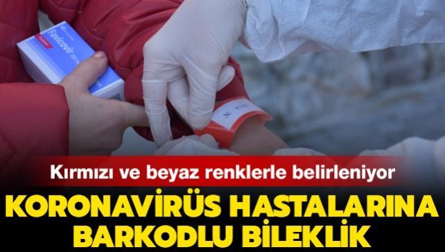 Koronavirüs hastalarına barkodlu bileklik uygulaması Bartın'da başladı