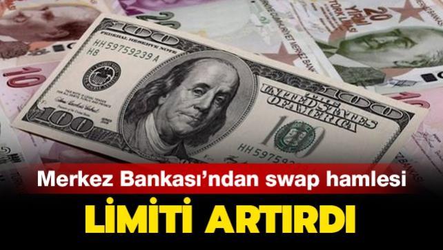 Merkez Bankası swap işlemlerinde limit artışına gitti