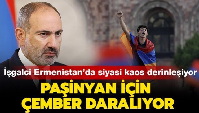 Paşinyan için çember giderek daraldı: İşgalci Ermenistan'da siyasi kaos derinleşiyor