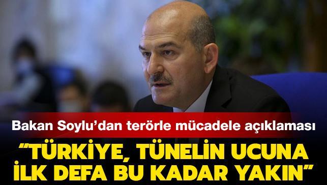 """Bakan Soylu: """"Türkiye, bugün terörle mücadelede ilk defa tünelin ucuna bu kadar yaklaşmıştır"""""""