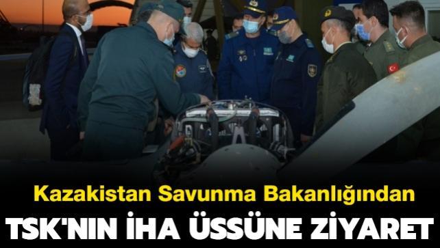 TSK'nın İHA üssüne dost ülke Kazakistan'dan ziyaret