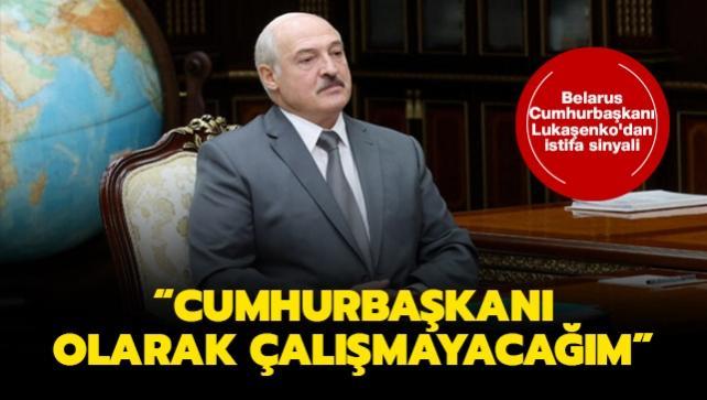Belarus Cumhurbaşkanı Lukaşenko'dan istifa sinyali: Yeni Anayasadan sonra cumhurbaşkanı  olarak çalışmayacağım